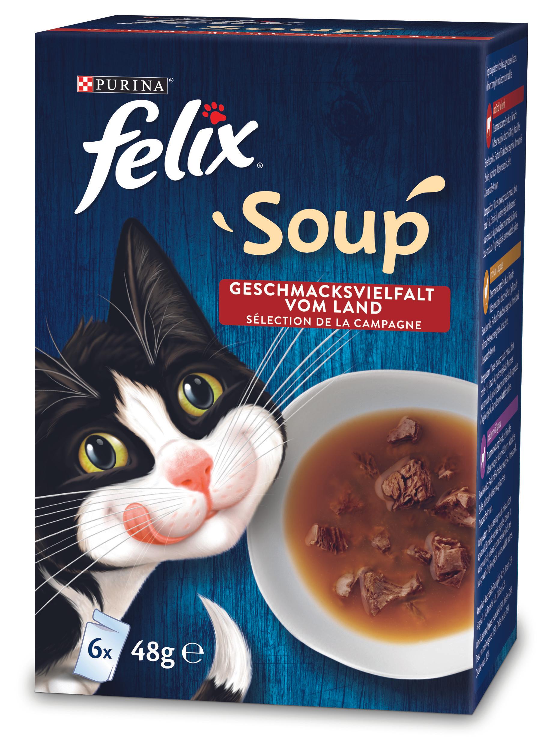 Sélection de produits Felix en promotion - Ex: Felix Soup 6x48g (Diversité mélangée)