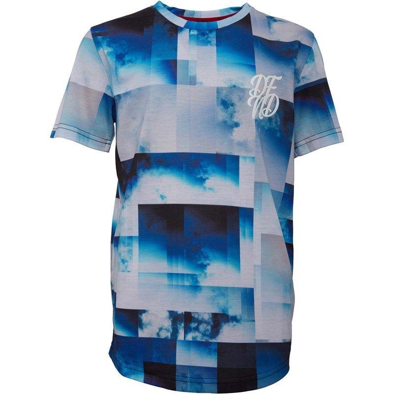 Tee-Shirt Cloudburst DFND London pour enfant - Bleu, Taille 7 à 16 ans (Frais de ports inclus)