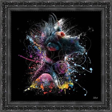 Sélection de tableaux en promotions - Ex : Tableau moderne Cool monkey 49x49 cm (milome.fr)
