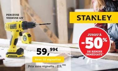 Sélection de produits Stanley en Promotion - Ex: Perçeuse/visseuse