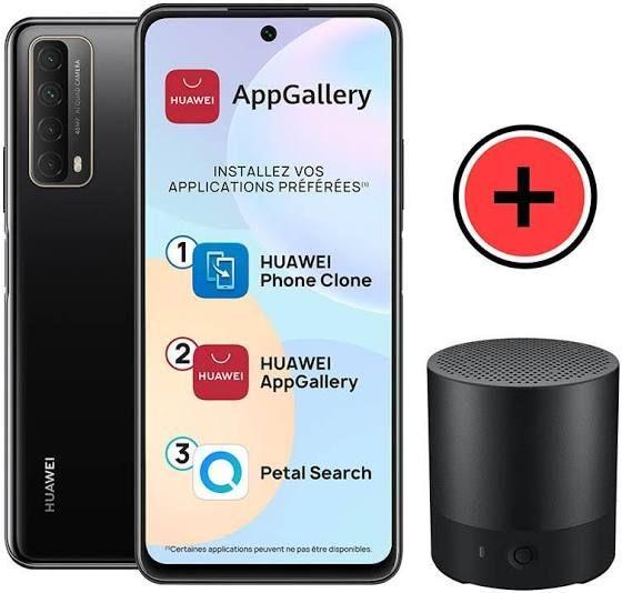 """Smartphone 6,6"""" Huawei P Smart 2021 - 4 Go RAM, 128 Go (sans services Google) + Enceinte bluetooth"""