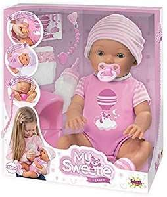 Poupon avec ses accessoires Splash Toys Sweetie Baby Rose