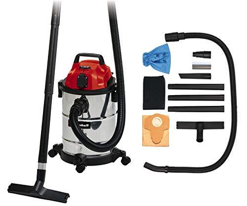 Aspirateur eaux et poussières Einhell TC-VC 1820 SA (1250 W, 180 mbar, Cuve INOX 20 L, Livré avec accessoires)