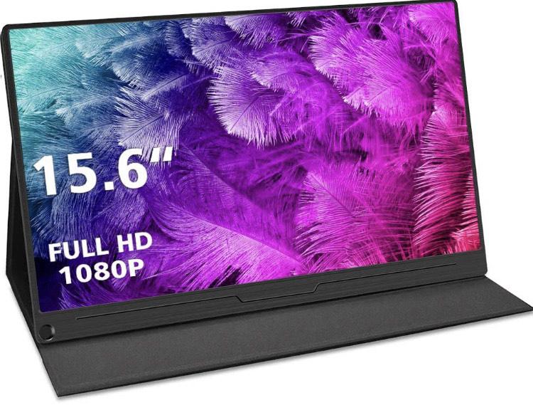 "Écran portable 15,6"" Uperfect - Full HD - USB-C, HDMI, DP, Mini DP - IPS - avec étui de Protection (Vendeur Tiers)"