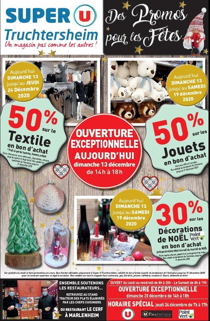 Sélection d'offres promotionnelles - Ex: 50% en bon d'achat sur le textile - Truchtersheim (67)