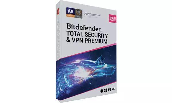 Licence Antivirus Bitdefender Total Security + VPN Premium 2021 pendant un an / 10 appareils (Dématérialisée)