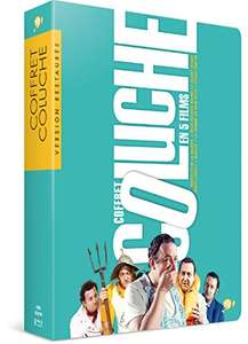 Coffret BluRay 5 films Coluche - Tchao Pantin + Inspecteur La Bavure + 2 heures moins le quart avant JC + Banzaï + La Femme de mon pote