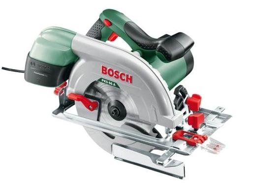 Scie circulaire Bosch - PKS 66 A 5000 tours/min (Livrée avec butée parallèle et lame de scie)