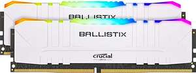 Kit mémoire Crucial Ballistix 2x8 Go BL2K8G36C16U4WL RGB, 3600 MHz, DDR4