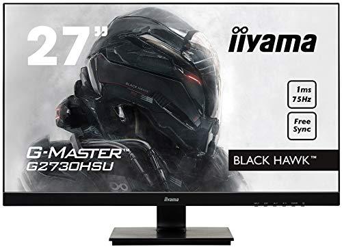 "Ecran PC 27"" Iiyama GMaster Black Hawk G2730HSUB1 - FHD, 1 ms, Freesync 75 Hz"