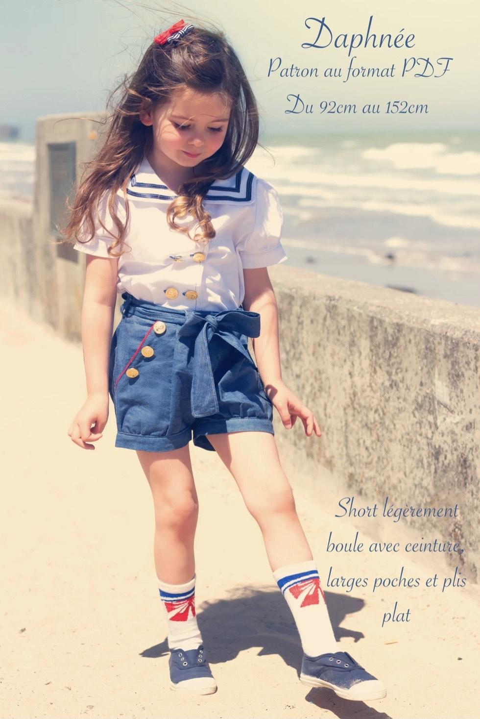 Patron de couture PDF Short enfant Daphnée (coloreslavie.com)