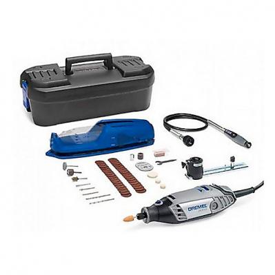 Outil multifonction Dremel 3000 - 130W, 33000 tr/min + 45 accessoires et 2 adaptateurs + coffret