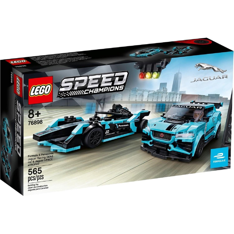 Jouet Lego Speed Champions - Formula E Panasonic Jaguar Racing Gen2 Car & Jaguar I-Pace eTrophy