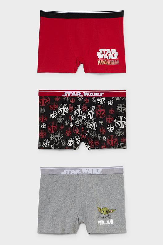 Lot de 3 boxers imprimés en coton bio (Star Wars ou Simpson)
