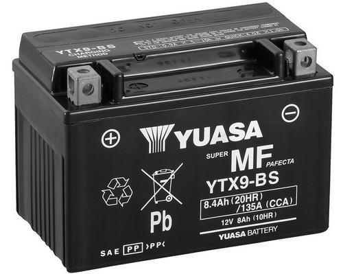 Batterie moto Yuasa YTX9-BS - 12V, 8.4 Ah