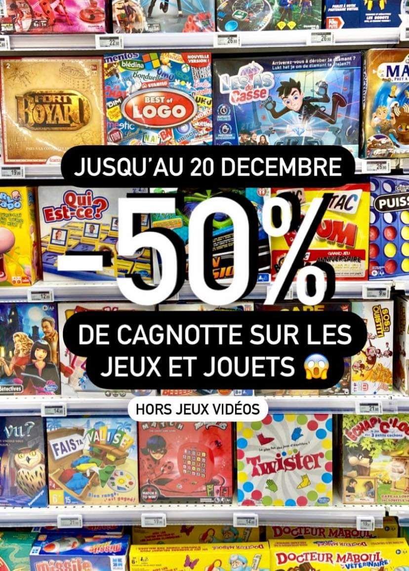 50% cagnotté sur le rayon Jouets - Ajaccio (2A)