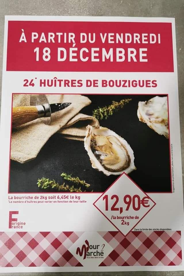 2 kg d'huitres de Bouzigues - J2M Vienne (38)
