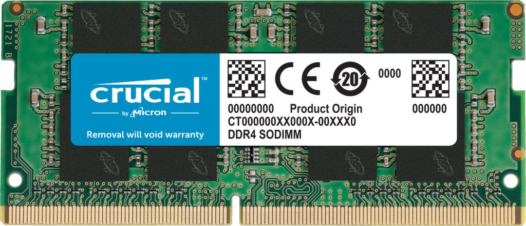 Barette Mémoire Crucial CT16G4SFRA266 16Go - DDR4, 2666 MT/s, PC4-21300, SODIMM, 260-Pin