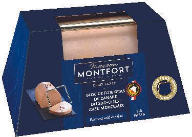 Bloc de foie gras du Soud-Ouest avec morceaux Montfort IGP - 200 g