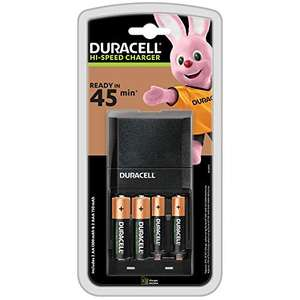Chargeur Piles Rechargeables Duracell Rapide 45 minutes + 4 piles (2*AA + 2*AAA)