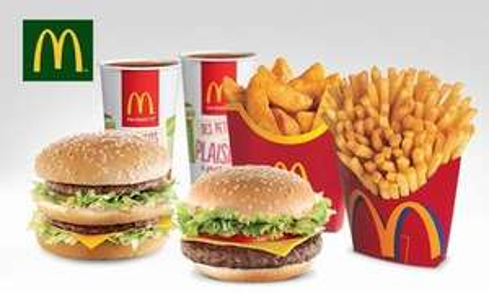 Deux menus Maxi Best Of (dans l'un des 9 McDonald's participants)