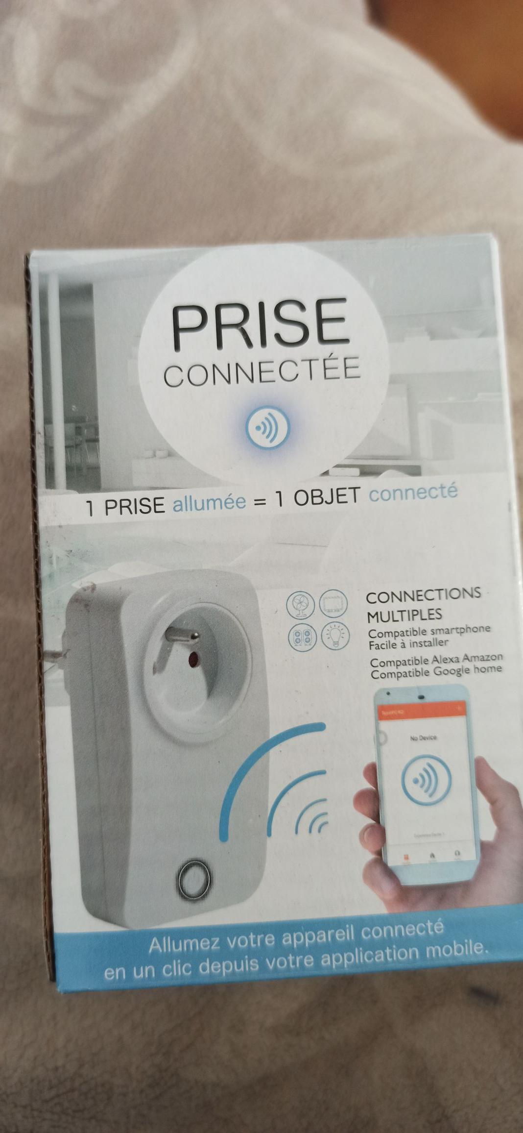 Prise connectée compatible Google Home et Alexa (2300W maxi) - Lory Bruay La Buissière (62)