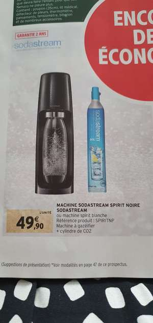 Machine à gazéifier l'eau SodaStream Spirit + cylindre de CO2