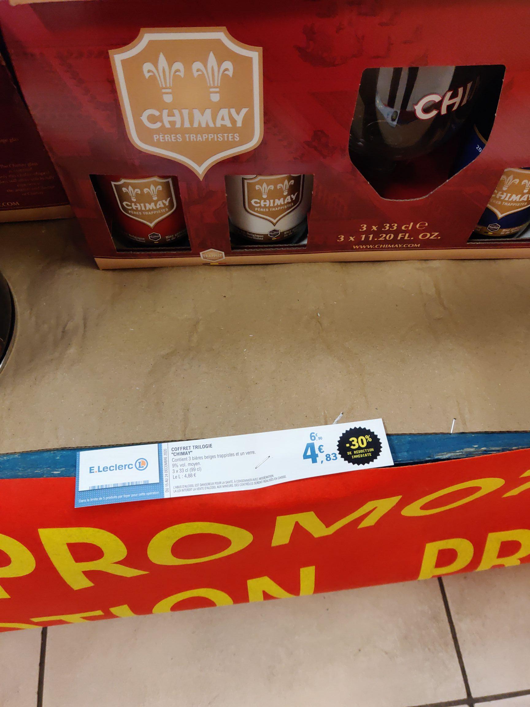 Coffret trilogie Chimay: 3 bières + 1 verre - Rezé (44)