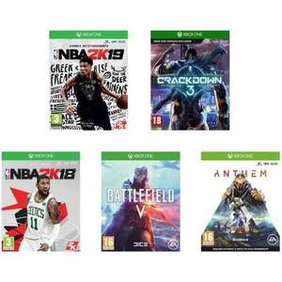 Pack de 5 Jeux Xbox One : Anthem + NBA 2K19 + NBA 2K18 + Battlefield V + Crackdown 3