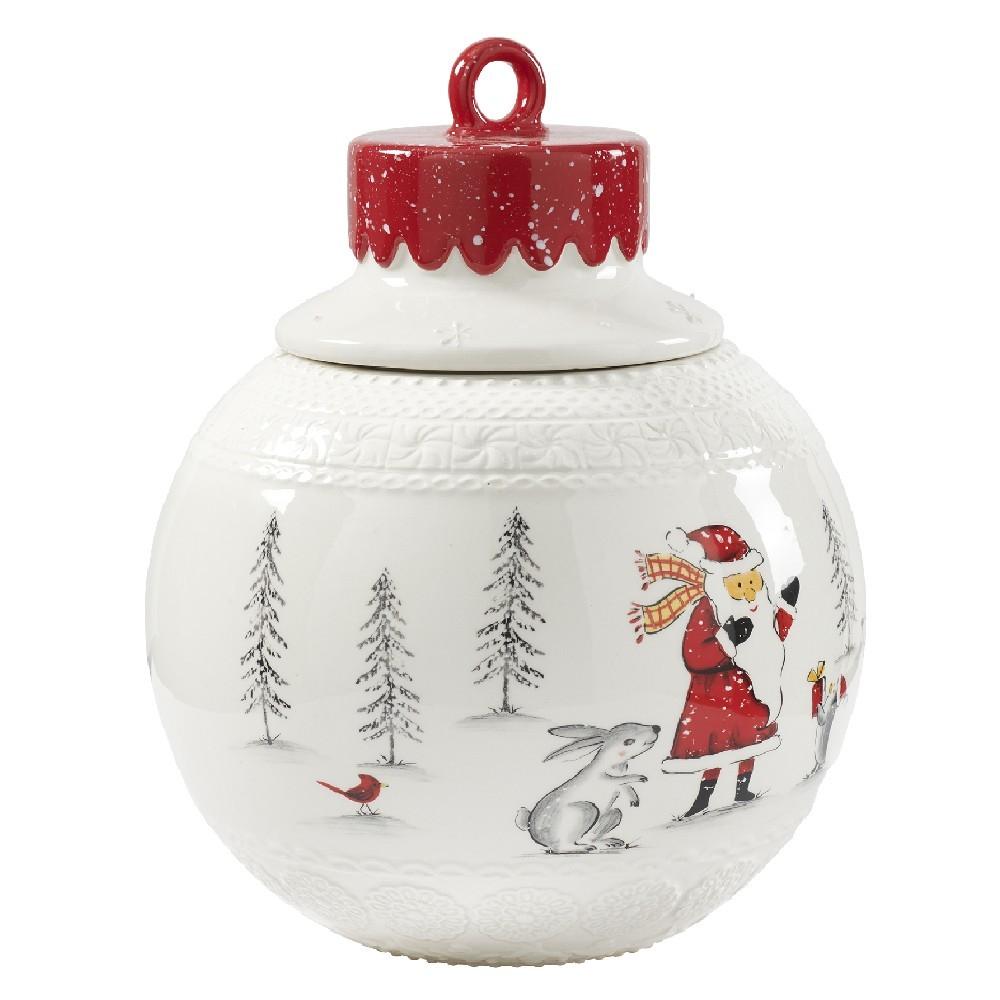 Bonbonnière forme boule de Noël