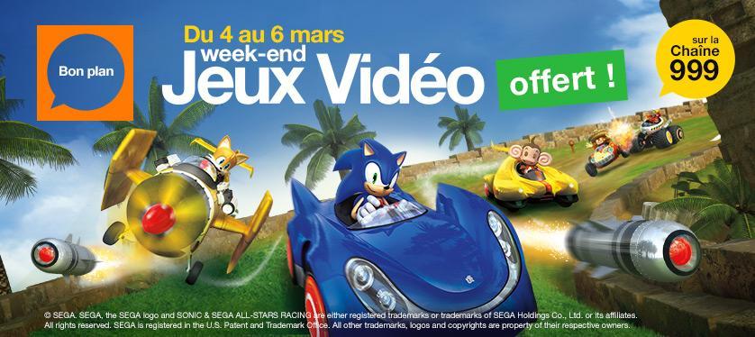 [Abonnés Orange] 6 Jeux Sonic offert sur la chaîne 999