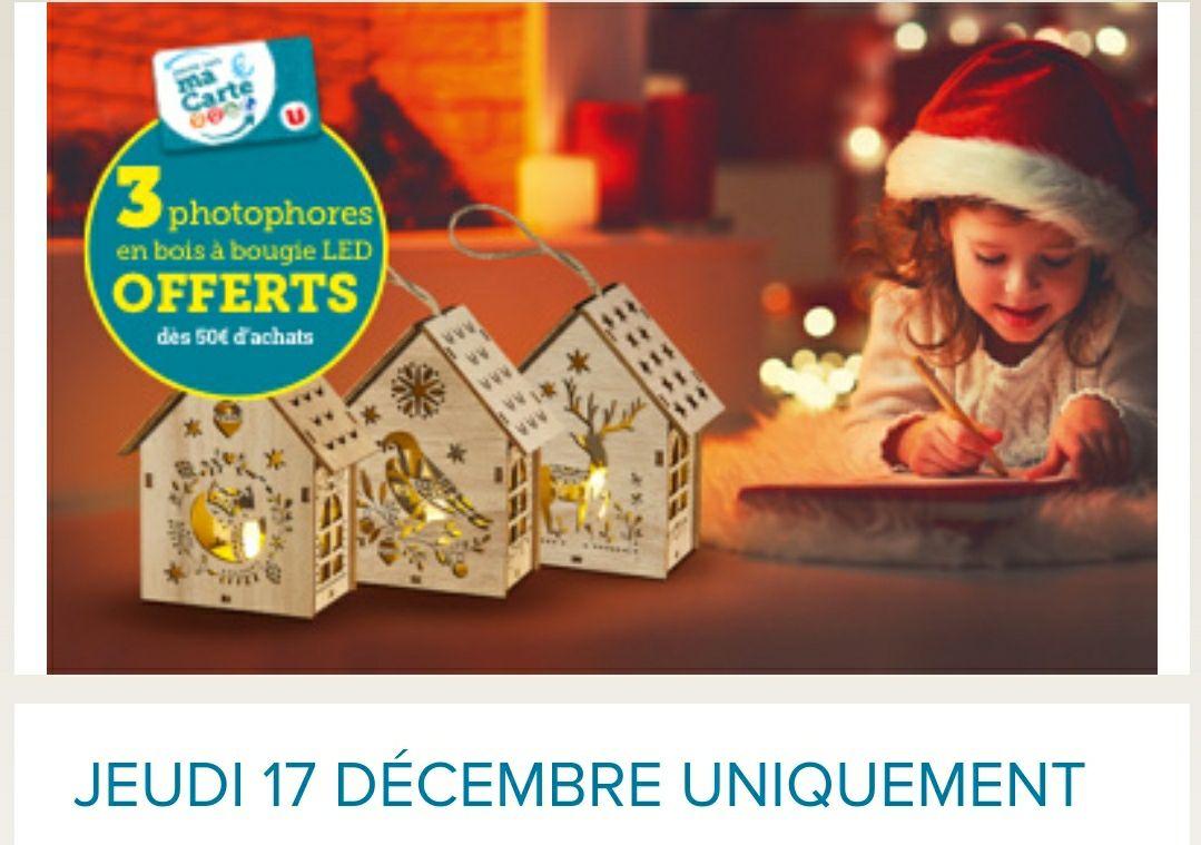 3photophores à bougie LED offerts dès 50€ d'achats - Nieppe (59)