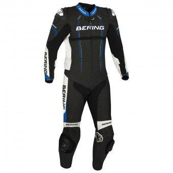 Combinaison Cuir moto Bering Lead-R - Noir / Bleu, Taille au choix