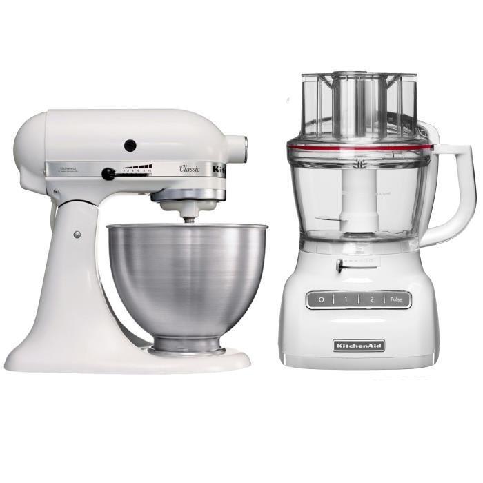 Robots de cuisine KitchenAid 5K45SS - 4.5L + Robot ménager 5KFP1325 - 3.1L + 31.49€ de bons d'achat