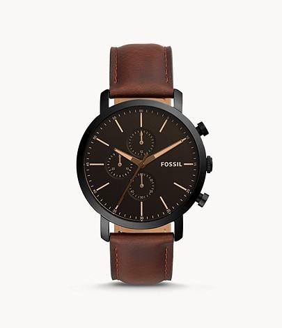 Sélection de produits en promotion - Ex : Montre Luther chronographe en cuir brun