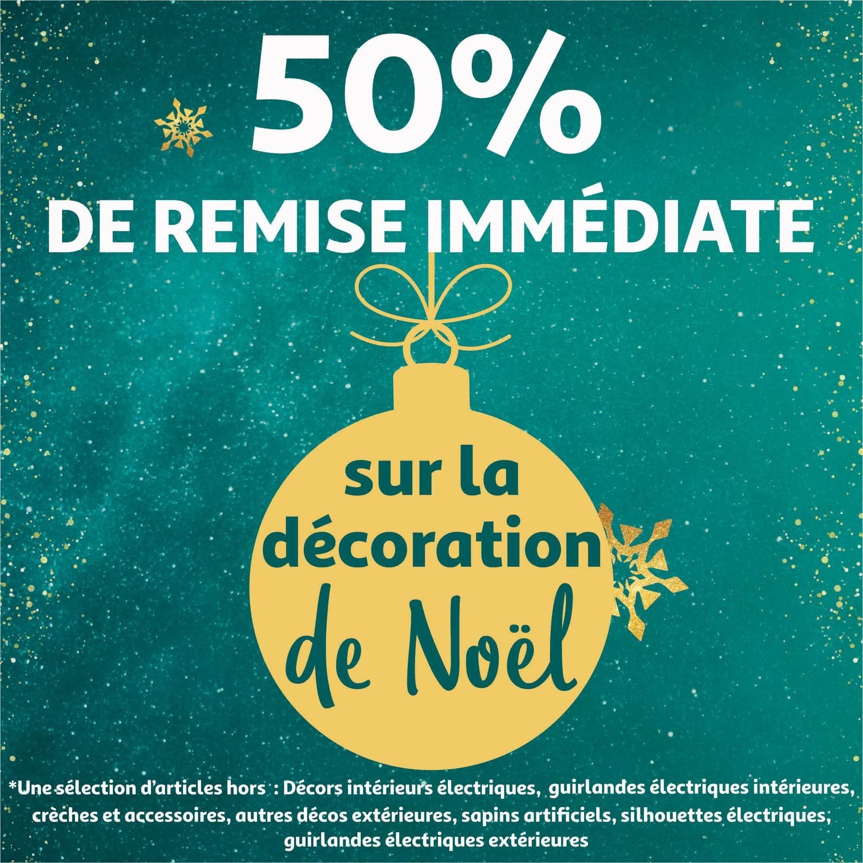 50 % de réduction sur les décorations de Noël - Auchan Bordeaux Lac (33)
