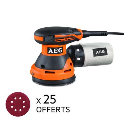 Ponceuse excentrique AEG EX125ED-SET (Via ODR 20€)