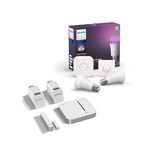 Kit de démarrage Philips Hue : 2 ampoules E27 White & Color Ambiance + Pont + Smart button + Kit de démarrage chauffage connecté Smart Home