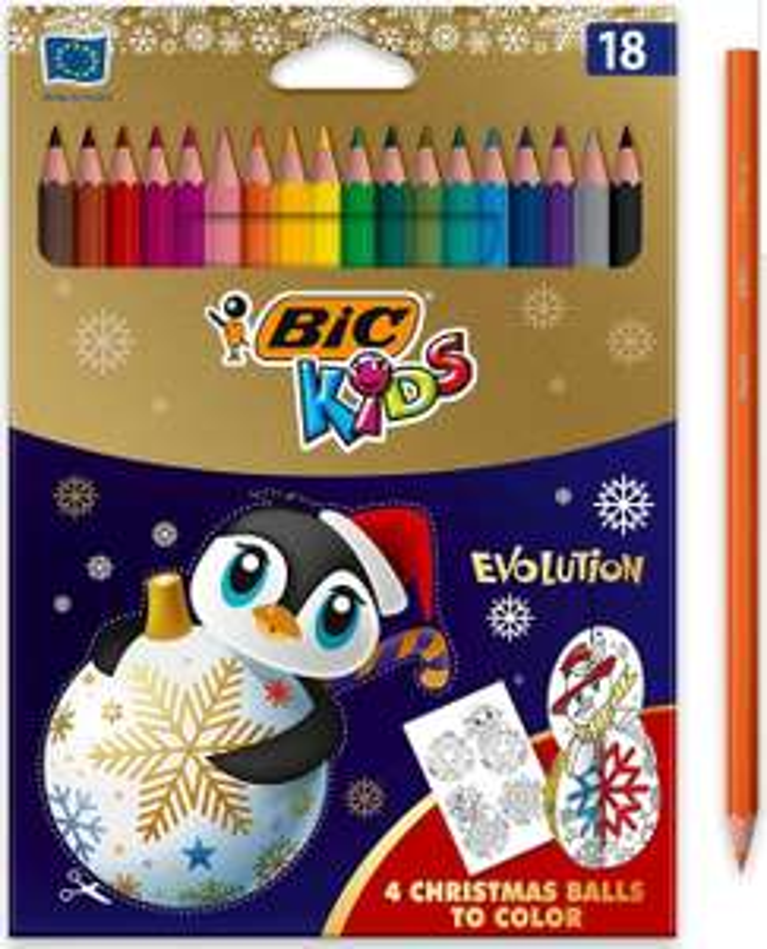 Paquet de 18 crayons de couleur BIC Kids Evolution