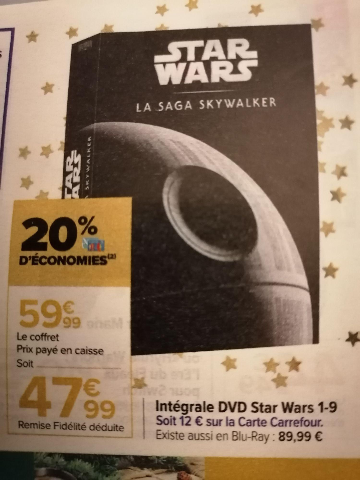Coffret DVD Star Wars - La saga Skywalker (Via 12€ sur la carte)