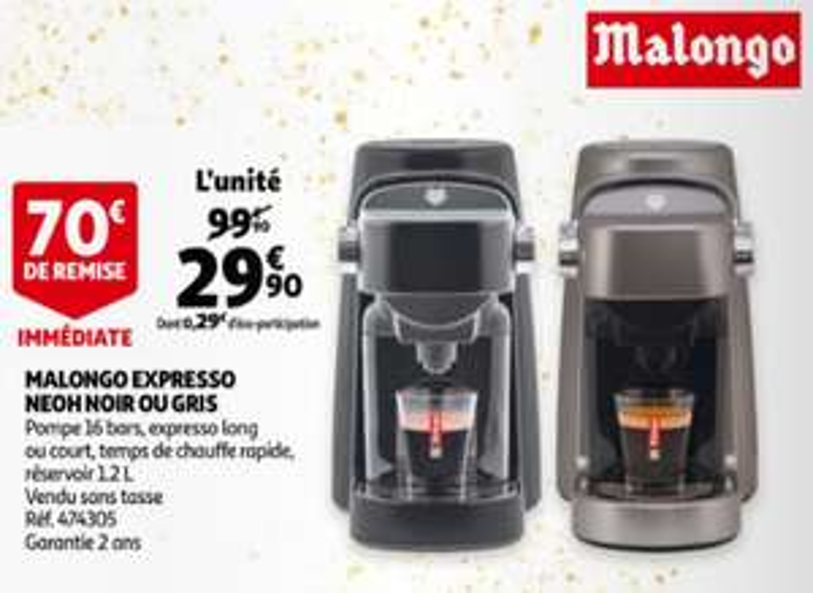 Machine à café Malongo Neoh Expresso