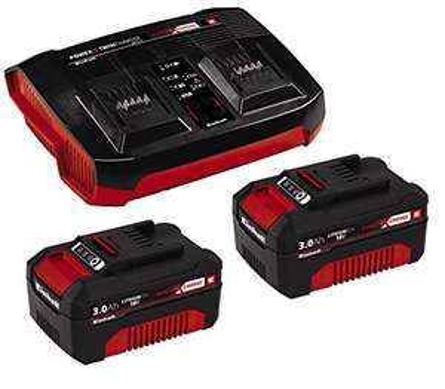 Kit de démarrage Einhell - Pack de 2 batteries 3.0 Ah + Chargeur