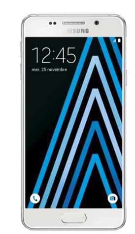 """Smartphone 4,7"""" Samsung Galaxy A3 2016 (via ODR jusqu'à 50€ ) +  Coque Clear Cover Transparente"""