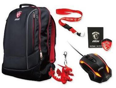 pack Gaming  MSI Gaming (sac à dos, souris, porte clef ...)