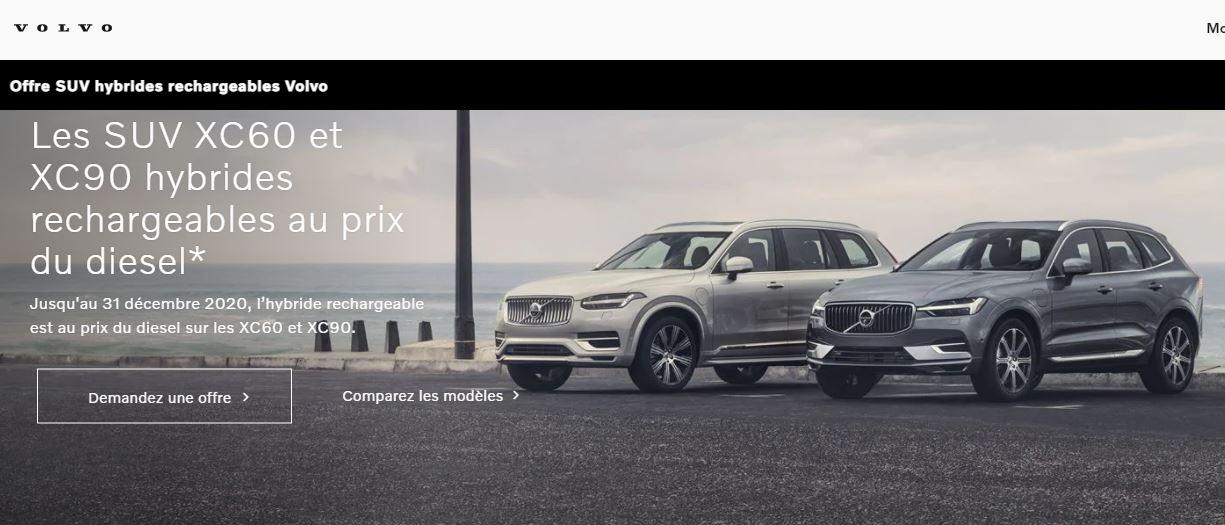 Voiture SUV hybride rechargeable Volvo XC60 ou XC90 au prix des motorisations diesel - VolvoCars.com