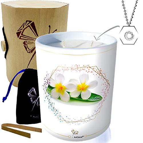 Bougie en cire végétale parfumée au monoï avec pendentif ArtGosse (vendeur tiers)