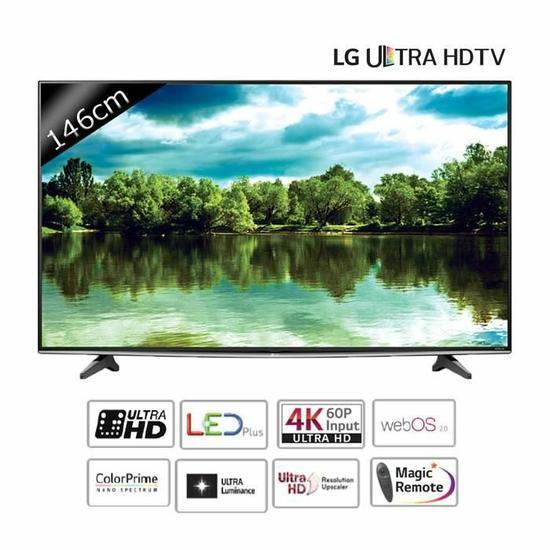 "TV 58"" LG 58UF830V  Smart TV LED UHD (+99.99€ en bon d'achat)"