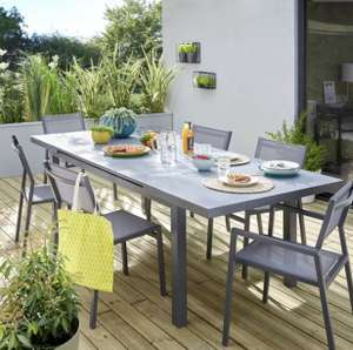 Table de jardin de repas Naterial Niagara rectangulaire gris de 6 à 8 personnes - Chancelade (24)
