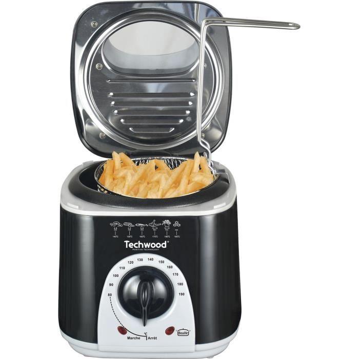 Mini Friteuse et Appareil à fondu Techwood - 950 W, Noir