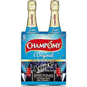 Lot de 2 Champomy Original - 2 x 75 cl, diverses variétés